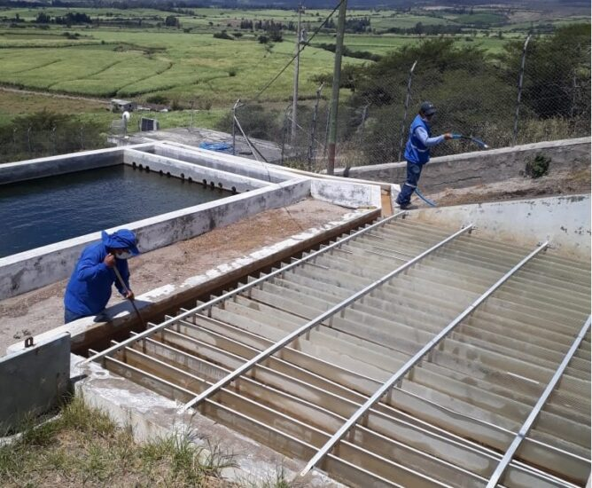 Mantenimiento de sistemas de agua potable del sector rural